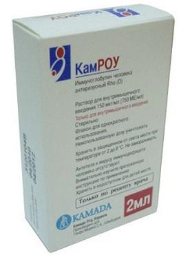 Упаковка иммуноглобулина Камроу